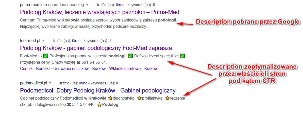 optymalizacja description - przykład